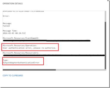 Be careful with Azure Stream Analytics, PowerBi and Azure AD